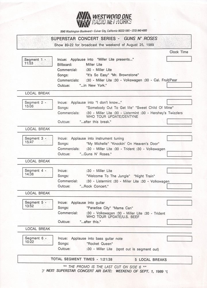 Lyric mr brownstone lyrics : Guns N' Roses Vinyl Bootlegs » Archive for Bootlegs, 12 Inch